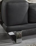 Canapé d'angle 3,5 places Hc.Héros chaise longue confort plumes