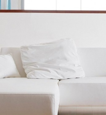 Grand coussin en cuir ou tissu carré LONGRUN 70 x 70 cm