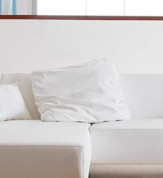 Grand coussin en cuir ou tissu carré LONGRUN 70 x 70 cm cuir ou tissu