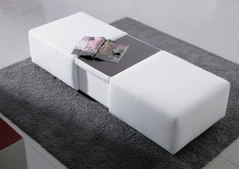 Grand pouf coffre & bar rectangulaire LONGRUN