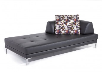 Chaise longue modulable Elements XXL en cuir