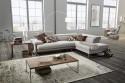 DreamLINE canapé d'angle cuir ou tissu 4 places