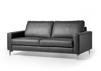 Canapé cuir design 2,5 places cubique EDD en cuir ou tissu