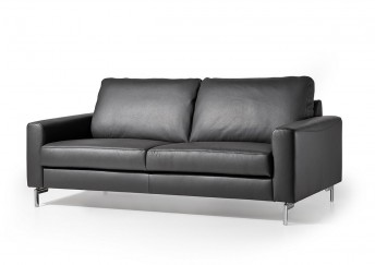 Canapé cuir design 3 places cubique EDD en cuir