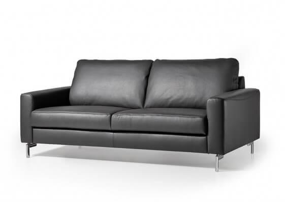 Canapé cuir design 2,5 places cubique EDD cuir ou tissu