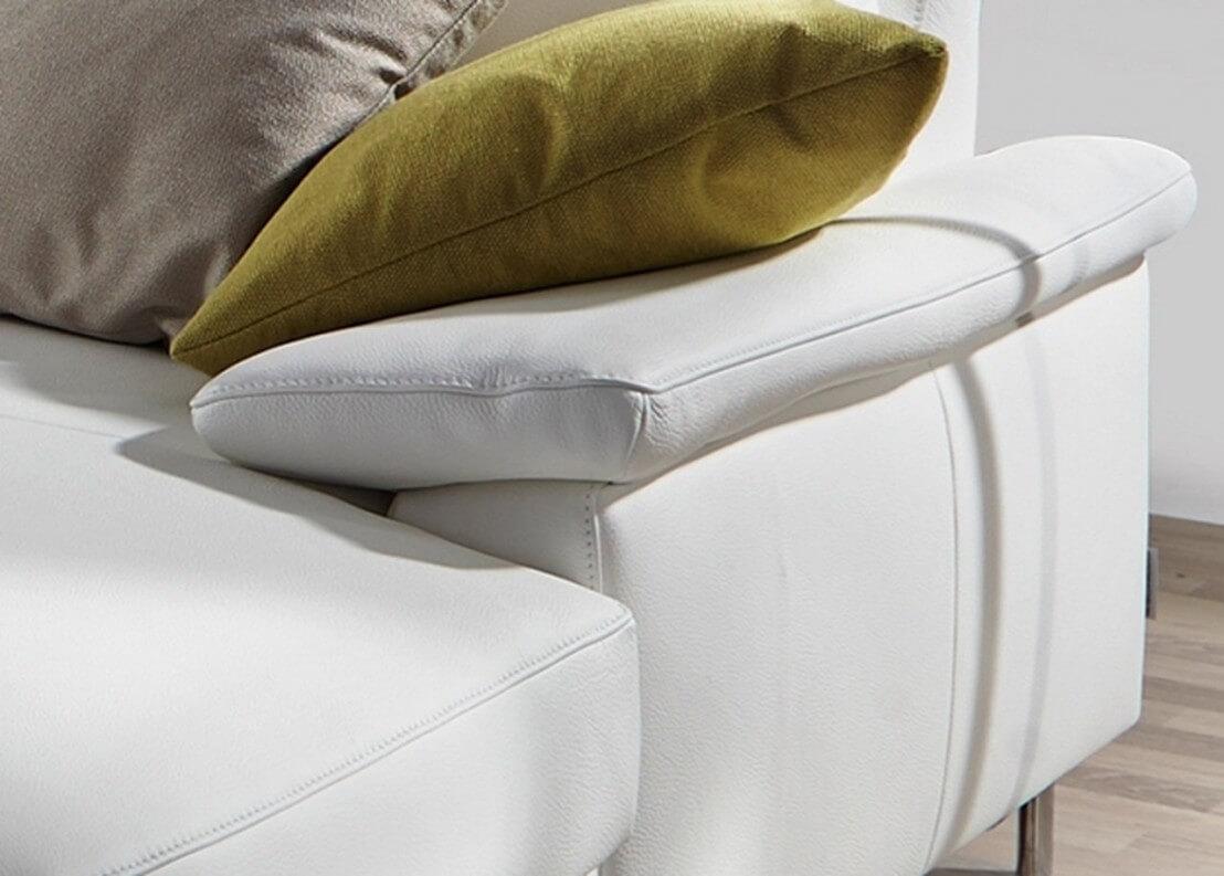 canap d 39 angle en u dossier haut ou bas en cuir elis. Black Bedroom Furniture Sets. Home Design Ideas