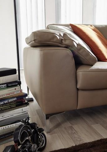 Coussin d'accoudoir en cuir ou tissu IDYL carré 46 x 52 cm