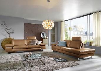 Canapé 3 places ICON design en cuir ou tissu