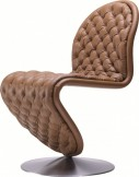 Chaise V. Panton SYSTEM 1-2-3 Deluxe cuir Hero Masérati