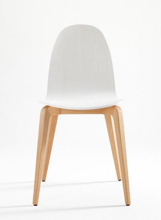 Bliss, chaises design en bois de hêtre massif, par 4