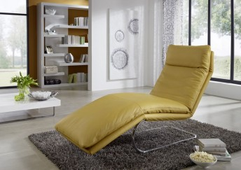 BODYTOUCH, chaise longue flexible en cuir 65 cm
