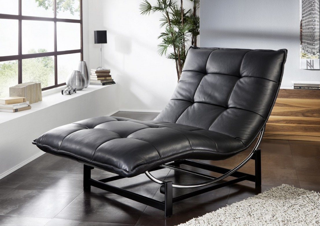 chaise longue de relaxation rockme xxl en cuir. Black Bedroom Furniture Sets. Home Design Ideas