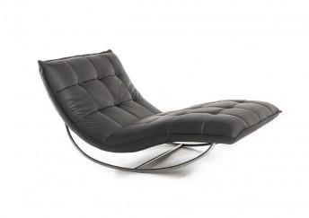 Chaise longue de relaxation ROCKME XXL en cuir