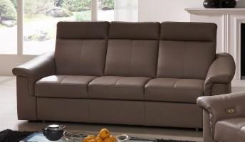 Canapé relax électrique 3 places JohnJohn cuir ou tissu