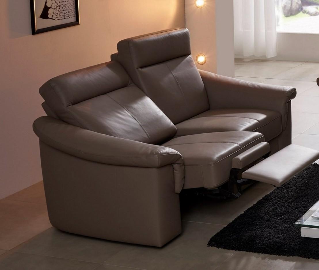 petit canap relax lectique cuir ou tissu 2 places johnjohn. Black Bedroom Furniture Sets. Home Design Ideas