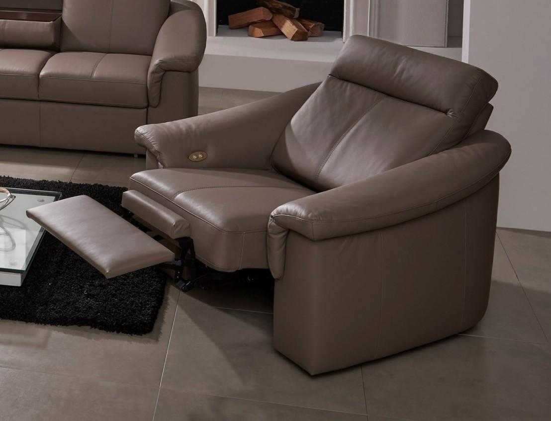 Salon complet lectrique relax en cuir johnjohn - Salon relaxation electrique ...