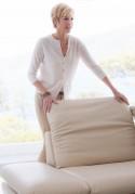 LINEFLEX, canapé 2 places cuir ou tissu, dossiers réglables, appuie-tête