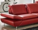 Canapé 4,5 places d'angle LINEflex avec retour ottomane profondeur réglable en cuir ou tissu