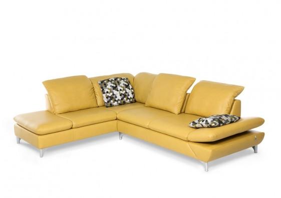 LINEflex, canapé d'angle 5 places avec retour ottomane dossiers réglables en profondeur