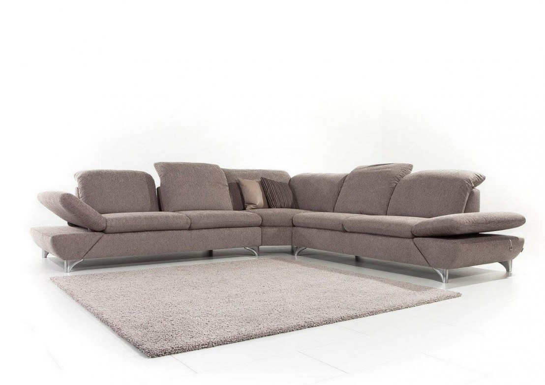 canap d 39 angle lineflex 6 places en cuir ou tissu r glables en profondeur avec appuis t te. Black Bedroom Furniture Sets. Home Design Ideas