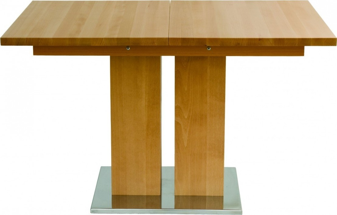 Table bois hetre for Table rallonge bois massif