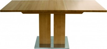 Table rectangulaire design bois massif rallonge MD1 160 x 80 cm