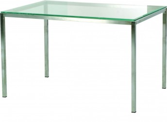 Table design SP1 INOX rectangle 120 x 80 cm