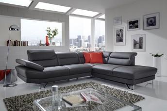 Canapé AFFEC.X d'angle cuir ou tissu 5 places design