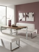Banquette design en cuir SoftWay 120 cm
