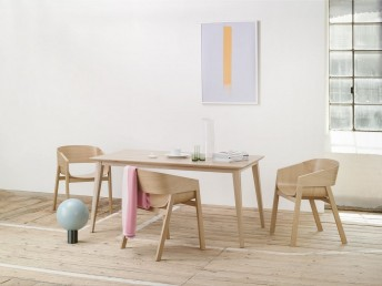 Table rectangle en bois de hêtre massif 90 x 180 cm JUTLAND