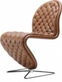 Chaise Deluxe Verpan pied papillon cuir pleine fleur Hero