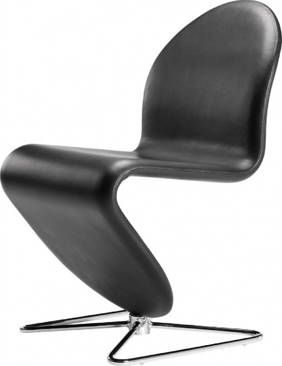 chaise verner panton dining cuir verpan pied papillon. Black Bedroom Furniture Sets. Home Design Ideas