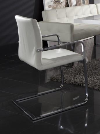 Chaise avec accoudoirs design DiamondDining en cuir