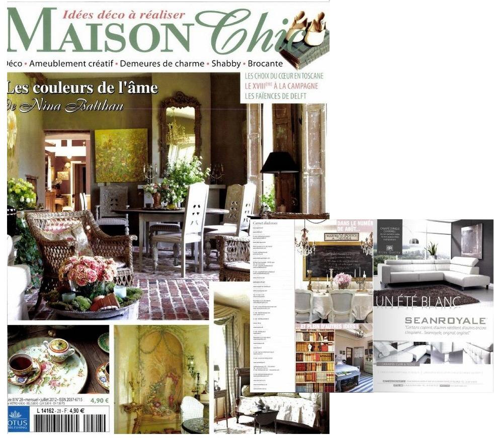 Canap s seanroyale france presse seanroyale - Maison chic magazine ...