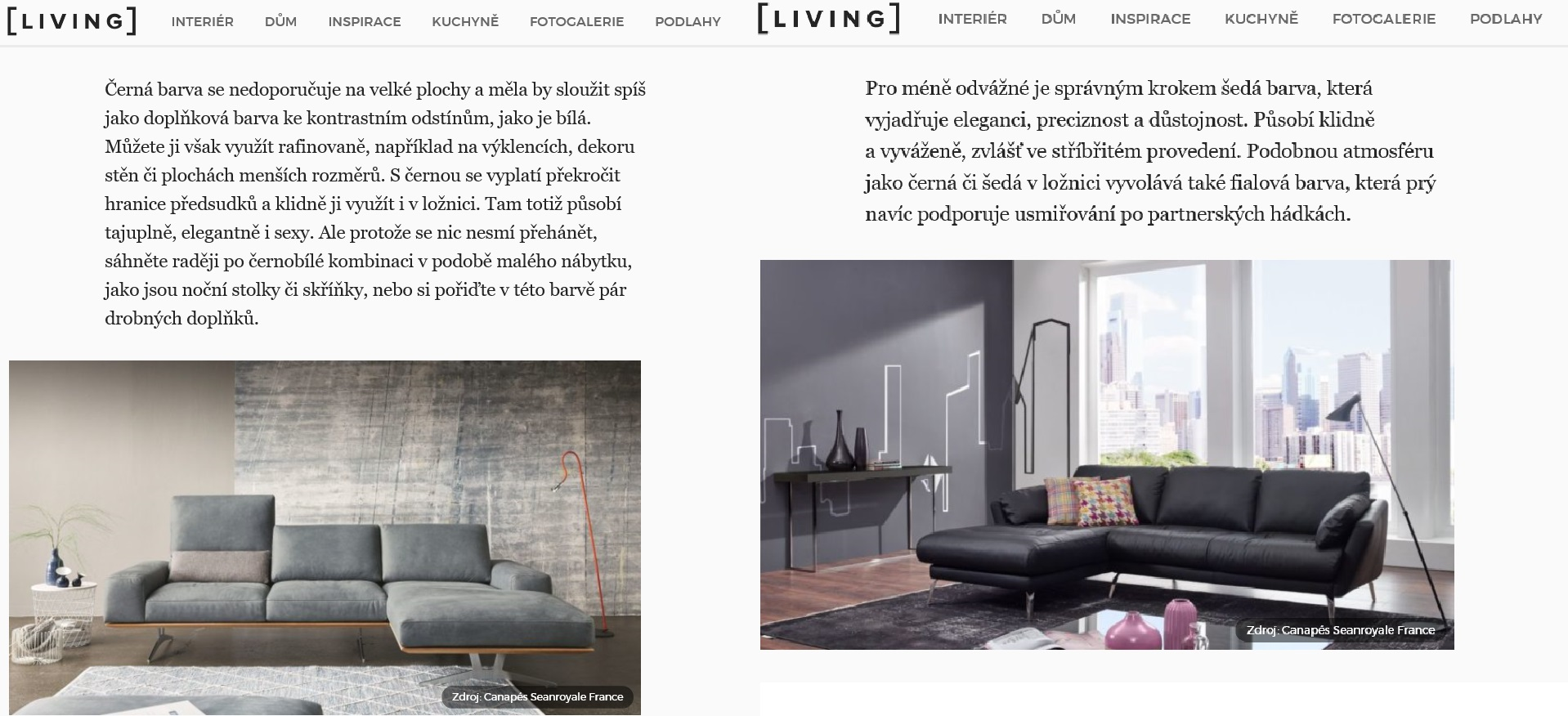 Parution magazine LIVING.CZ 26 novembre 2019